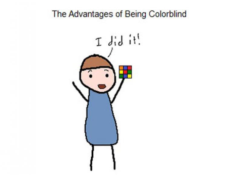 advantages of being colour blind