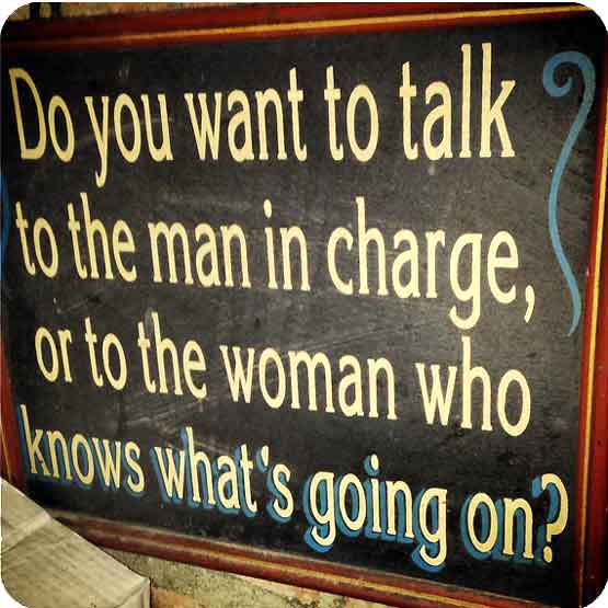Or the woman that knows everything