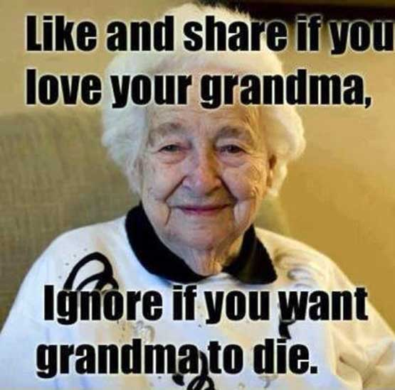 facebook - like your grandma