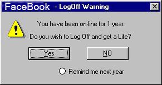 Facebook Warning Messages