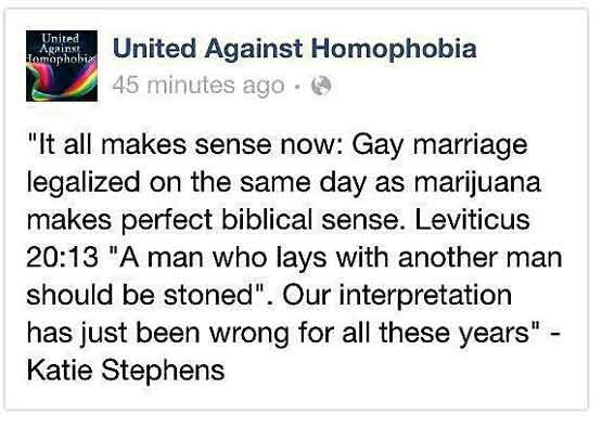 Gay marriage jokes