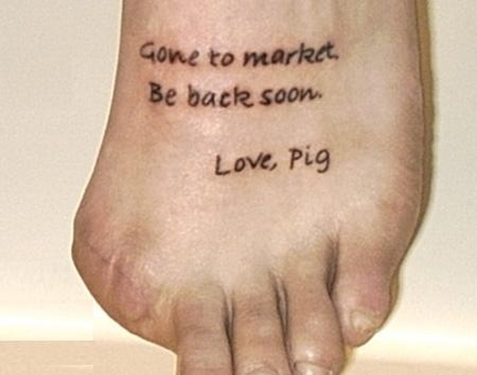 Gone to market - Love Pig