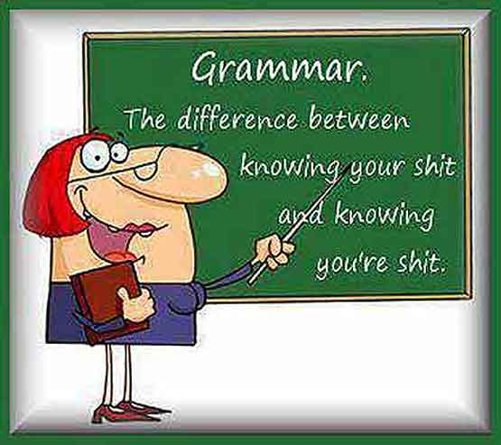 grammar best to know your shite