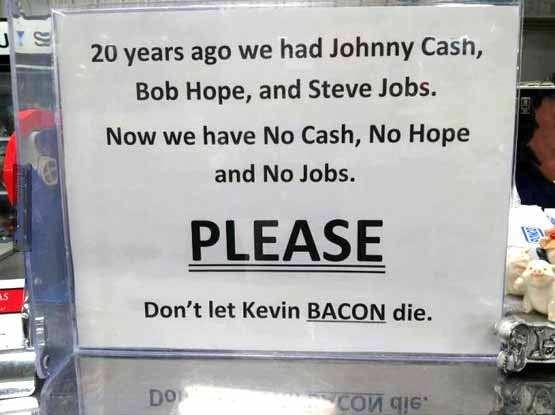 Had Cash, Hope And Jobs, Save the Baccn