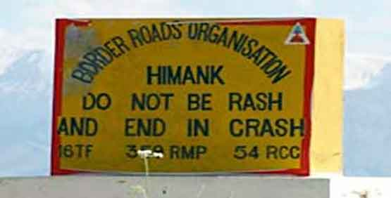 Himalayan road signs