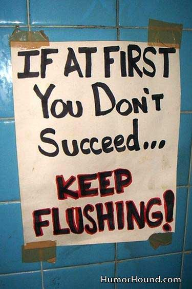 Golf - keep flushing
