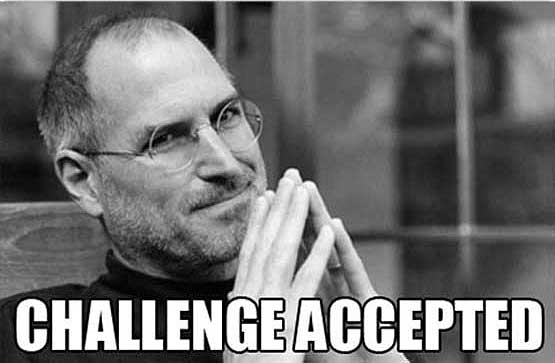 Steve Jobs accepts the challenge