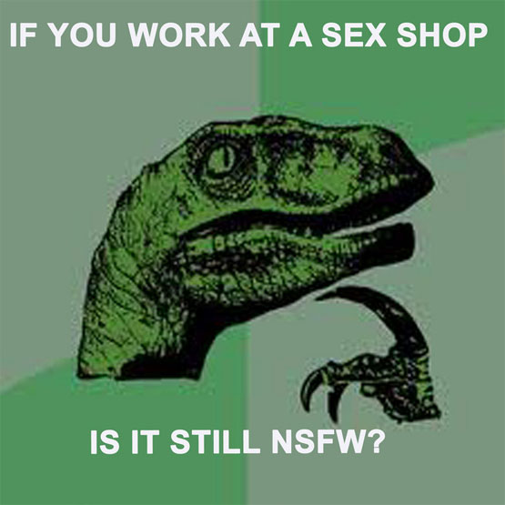 Is it NSFW if you work in a sex shop