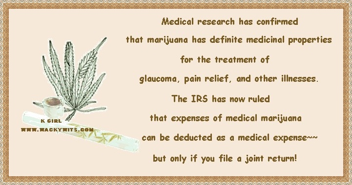 IRS joint claim for Marijuana medical expense