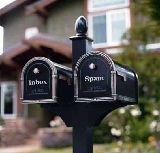 You have mail and also spam