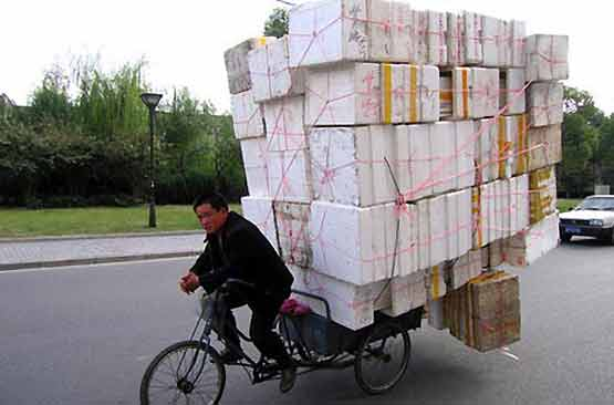 Safety at Work - Overloaded Bike 005