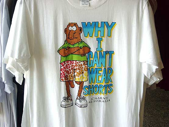 Tshirt - Why I cant wear shorts