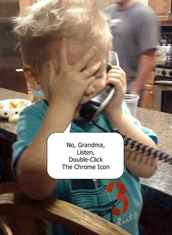 Technical support for Grandma