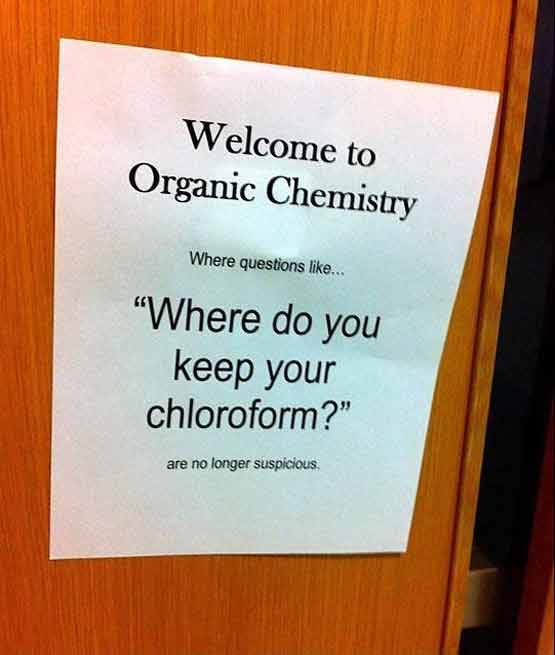Where do you keep your chloroform