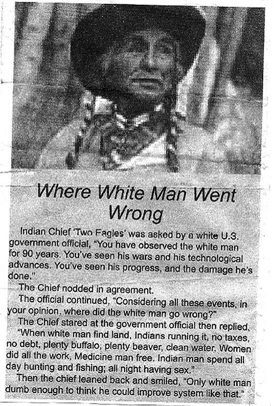 Where white men went wrong