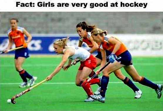 Why girls are Good at Hockey